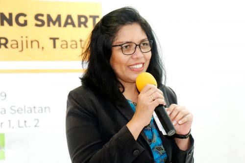 Sambutan Head of Commercial Department Mayapada Hospital Jaksel, Risma Christina Simanjuntak